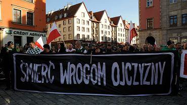 Manifestacja ONR we Wrocławiu