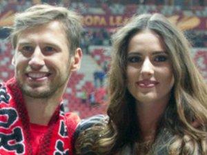 Grzegorz Krychowiak i Celia Juanat