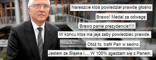 """Prezydent Nowej Soli zjedna� sobie internaut�w. """"Ma 100 proc. racji"""", """"W ko�cu kto� ma jaja"""""""