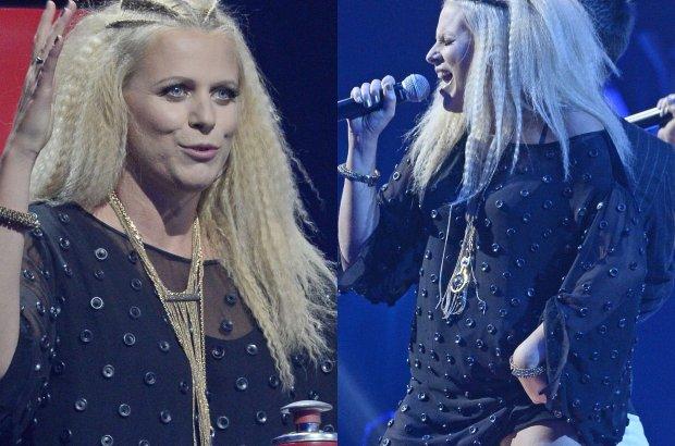 """Marysia Sadowska we wczorajszym odcinku muzycznego show """"The Voice of Poland"""" pojawiła się w odważnej stylizacji. W dodatku zapomniała o depilacji."""