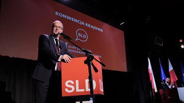 12.05.2018, Warszawa , Włodzimierz Czarzasty przemawia na konwencji krajowej SLD.