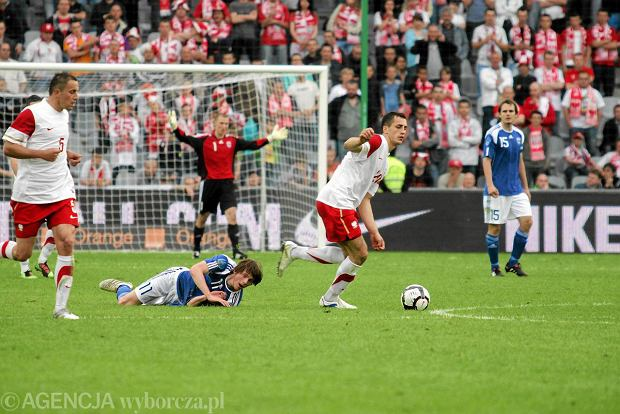 Kasper H�m�l�inen w barwach Finlandii przeciwko Polsce
