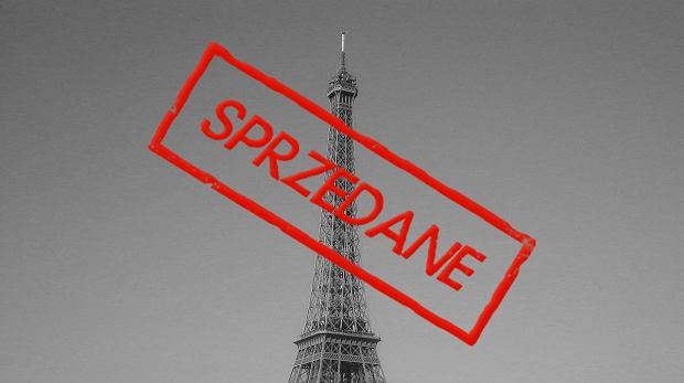 Wieża Eiffla sprzedana Francuzom.