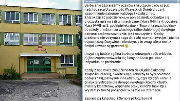W jednej z polskich szkół władze postawiły na nietypową motywację do nieobchodzenia Halloween