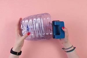 Pojemnik na klocki z plastikowej butelki