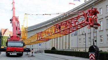 Dolnośląski Urząd Wojewódzki. Trwa przebudowa wewnętrznego dziedzińca
