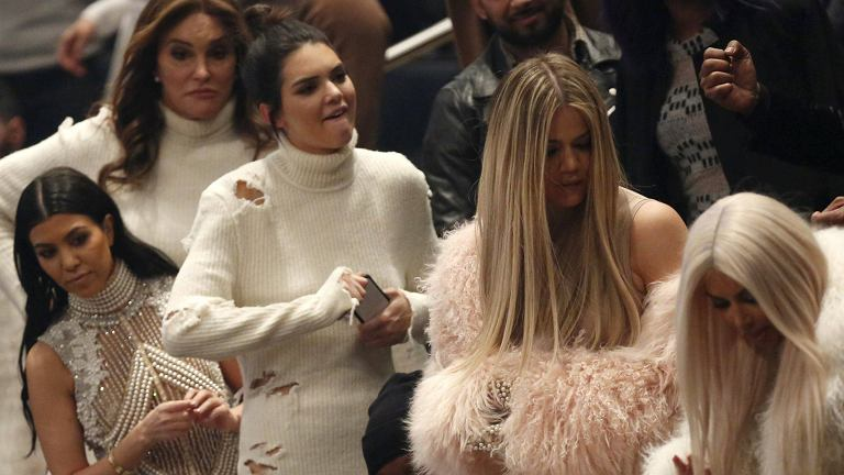 Kardashianowie na pokazie Kanye Westa