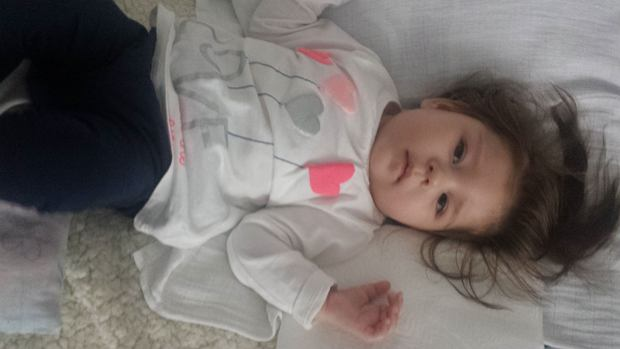 14-miesięczna Antosi Stępień, która choruje na padaczkę lekooporną