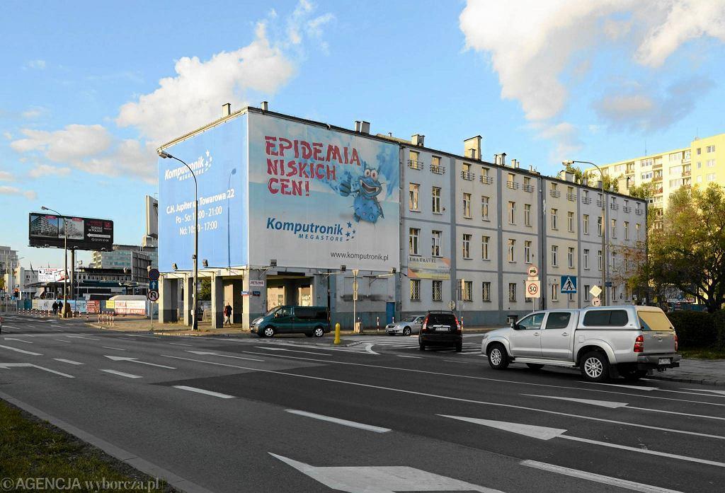 Trzypiętrowy budynek z przełomu XIX i XX w., były biurowiec nieistniejącej już fabryki kotłów przy ul. Srebrnej w Warszawie. Tu spółka ludzi PiS chce wybudować wieżowiec