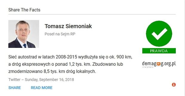 Screen z serwisu demagog.org.pl