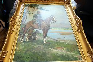 """""""Piłsudski na Kasztance"""" odnaleziony. 19 lat temu obraz został skradziony z mieszkania"""