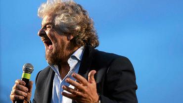 """Beppe Grillo z """"Ruchu Pięciu Gwiazd"""" (M5S), największej partii opozycyjnej we Włoszech, która chce przeprowadzić referendum w sprawie członkostwa Włoch w strefie euro"""