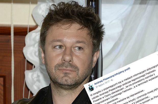TVP podała przed paroma dniami informację, że podczas przeniesionego na wrzesień festiwalu w Opolu zobaczymy koncert jubileuszowy Andrzeja Piasecznego. Piosenkarz stanowczo zaprzeczył tym doniesieniom.