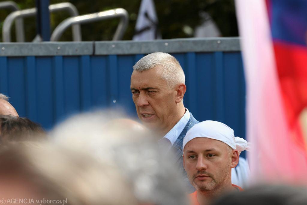 Roman Giertych podczas demonstracji w obronie sądów