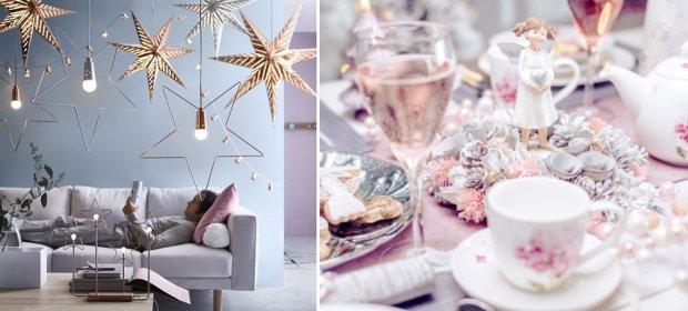 Pastelowe dekoracje świąteczne