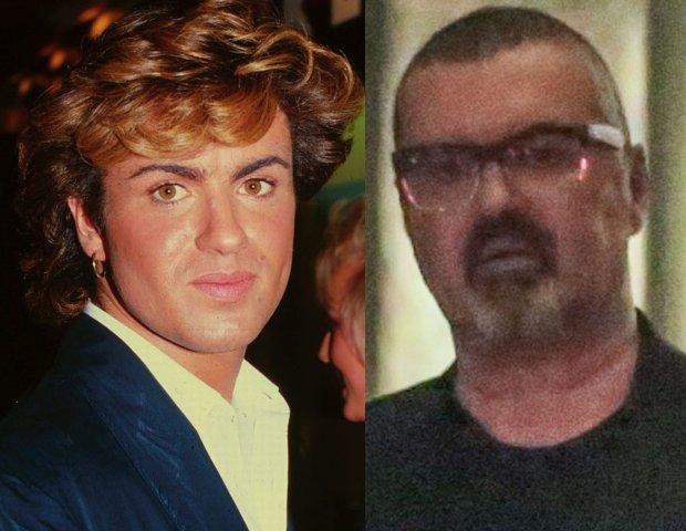 George Michael w 1984 i w czerwcu 2015 roku