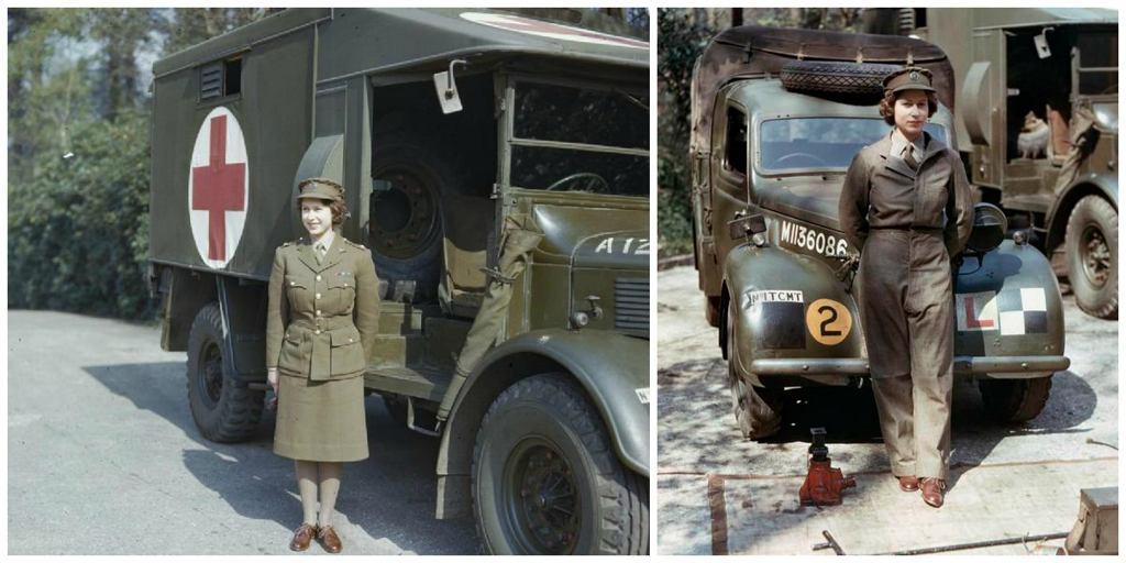 Księżniczka Elżbieta w wojskowym mundurze (fot. Wikimedia.org / Domena publiczna)