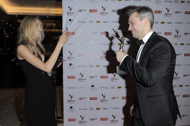 Michał Żebrowski z żoną Olą, telekamery