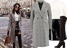 Płaszcz dwurzędowy - stylizacja