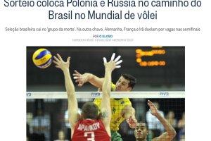 """Mistrzostwa �wiata w siatk�wce. Brazylijskie media po losowaniu: """"Grupa �mierci! Dlaczego musimy przenosi� si� do �odzi?"""""""