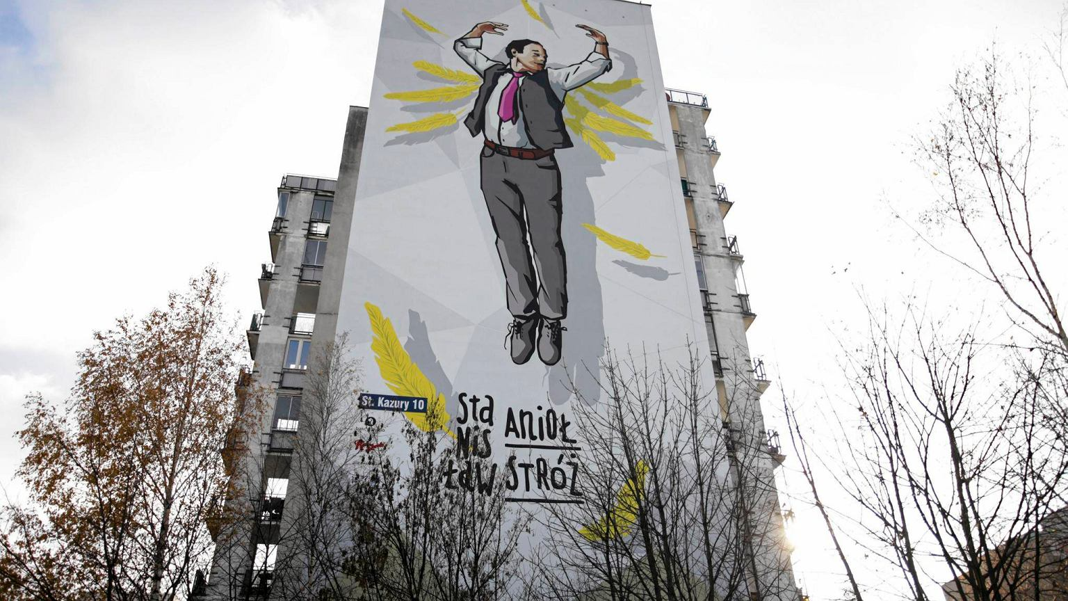 Ods oni to mural ze stanis awem anio em 39 to posta jak for Mural ursynow