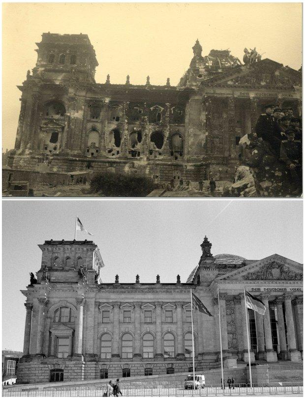 70 lat temu podda� si� Berlin - zobacz, jak odrodzi�o si� miasto [TE SAME KADRY]