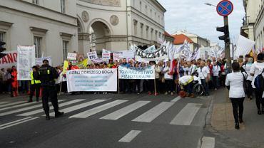 Protest pracowników służby zdrowia, Warszawa 28.09.2015
