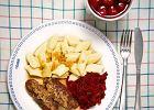Zestaw 1: kopytka, zrazy babci Reni, sa�atka z gotowanych buraczk�w, kompot wi�niowo-jab�kowy