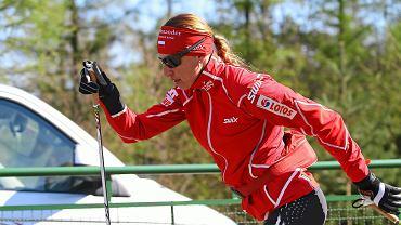 Justyna Kowalczyk na treningu