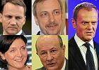 Radosław Sikorski, Bogdan Zdrojewski, Joanna Mucha, Jacek Rostowski i Donald Tusk