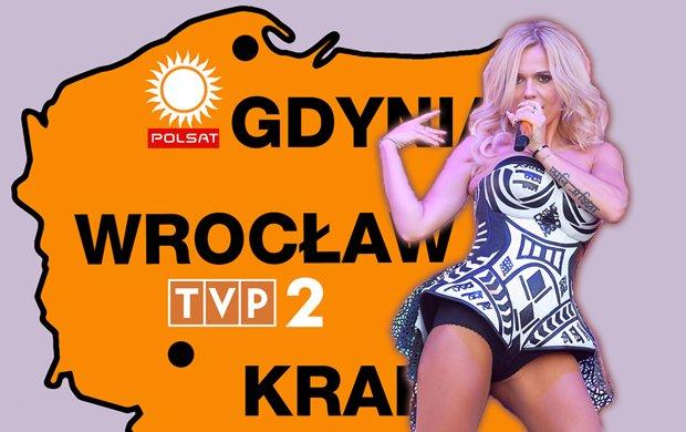 """Dwójka zagra we Wrocławiu, TVN w Krakowie, a """"Sylwestrowy rejs"""" Polsatu wypływa z Gdyni. Czego spodziewać się, jeśli zdecydujecie się na Sylwestra przed telewizorem?"""