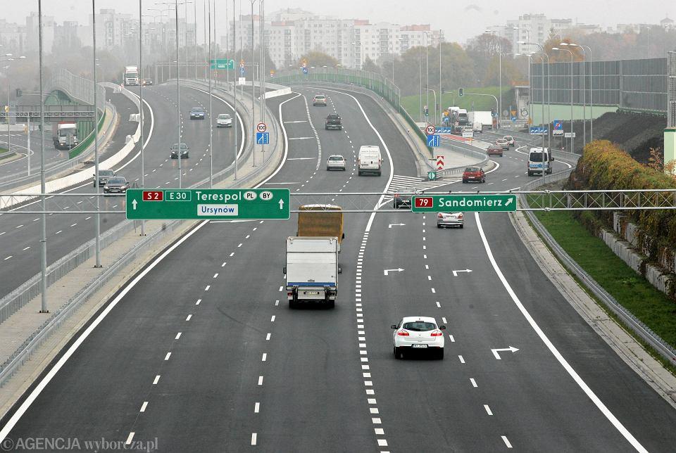 Obwodnica Warszawy. Istniejący odcinek tzw. południowej obwodnicy