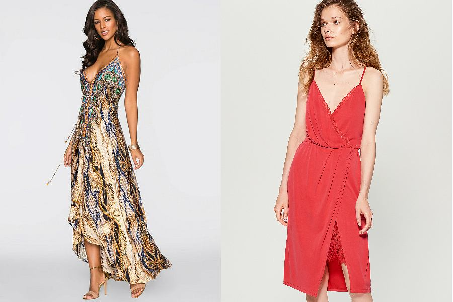 sukienki z dekoltem V