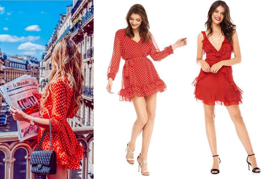 8aacc3fcf2 Sukienka w groszki  bądź retro na co dzień!