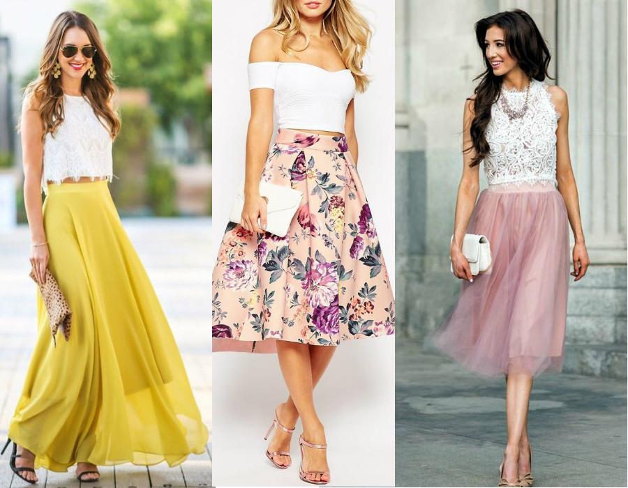 Jak się ubrać na wesele - spódnica / fot. cichic.com, asos.com, fenzyme.com