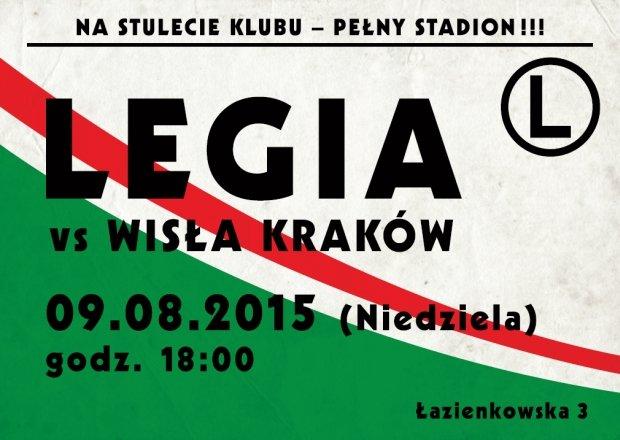Plakat retro meczu Legia - Wisła