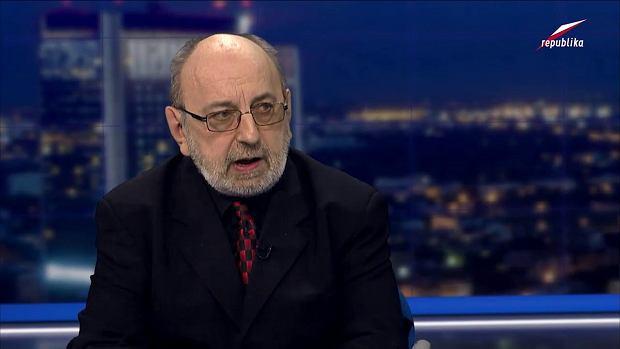Krzysztof Masłoń na nagraniu w TV Republika