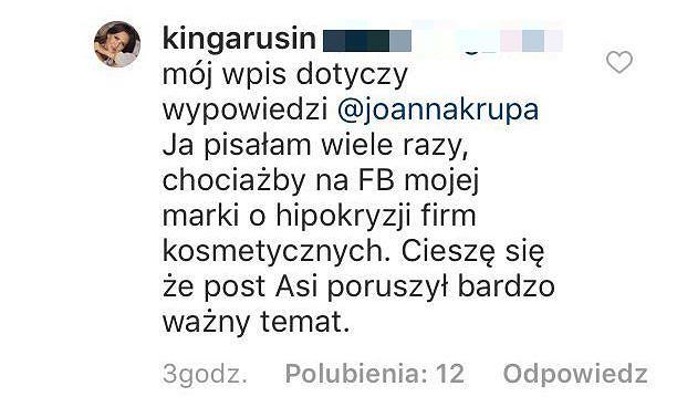 Odpowiedź Kingi Rusin