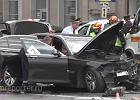 Tragiczny wypadek BMW Putina - zgin�� jego ulubiony kierowca. Prezydenta nie by�o w aucie [WIDEO]
