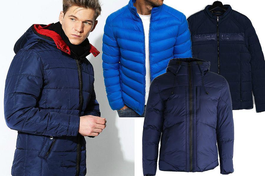 Niebieskie kurtki puchowe
