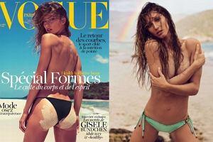 """Seksowna Gisele Bundchen WIJE SI� na pla�y w sesji dla """"Vogue'a"""". I �WIECI piersiami!"""