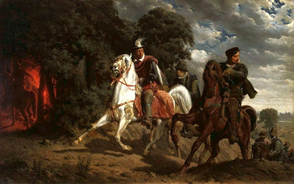 Ucieczka Henryka Walezego z Polski (obraz Artura Grottgera/Wikimedia Commons/public domain)