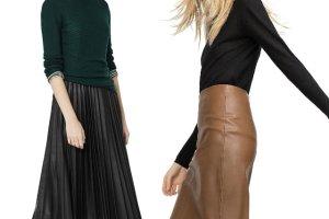 Skórzane spódnice z jesiennych kolekcji