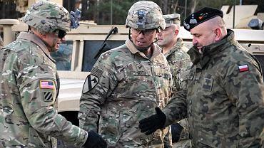 Powitanie amerykańskich żołnierzy w Żaganiu