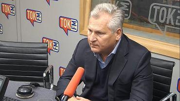 Prezydent Aleksander Kwaśniewski w studiu Radia TOK FM.