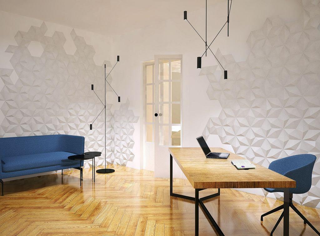 Trójwymiarowy wzór płytek betonowych Diament 3D