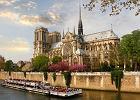 Katedra Notre-Dame - Francja Pary�. Gotycki ko�ci� nad Sekwan� spopularyzowany przez Victora Hugo w powie�ci Dzwonnik z Notre Dame. Pocz�tki Katedry si�gaj� 850 lat wstecz, prawie 200 lat po�wi�cono na jej budow�.