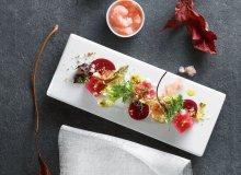 Tatar z tuńczyka z granitą grejpfrutową - ugotuj