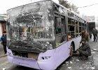 Donieck: ostrzelany przystanek autobusowy, nie �yje nawet 13 os�b. Jaceniuk: Za atak odpowiada Rosja