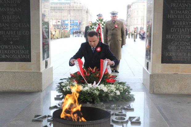 Zdjęcie numer 2 w galerii - Prezydent Andrzej Duda na obchodach rocznicy powstania wielkopolskiego w Warszawie